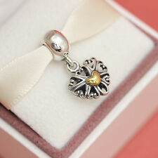 * New! Authentic Pandora Filled With Love w 14k 791274 Wife Heart Gift Charm