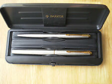 Vintage  Parker 45 GT FLIGHTER  Fountain & Ballpoint Pen Set with Case @LOOK@VGC