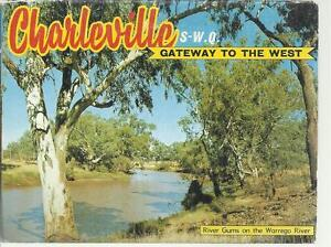FOLD OUT VIEWS OF CHARLEVILLE SOUTH WEST QLD  POSTCARD
