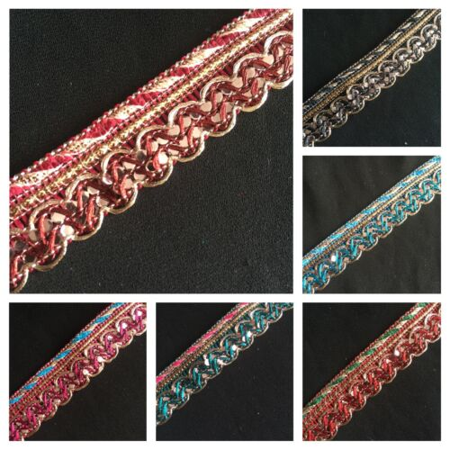 20 Colores-upholstery//cushion//indian 1metre 17mm Trenza trim//lace//gimp