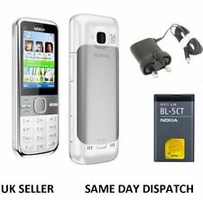 New Nokia Brand C5-00 white 5MP Bluetooth FM Radio 3G Unlocked Phone