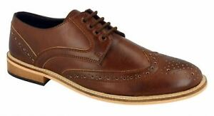 Mens-Lambretta-Formal-Shoes-Lace-Up-Oxford-Brogues-Smart-Casual-Office-Size