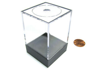 "Plastic Figure and Dice Medium Display Box - 1.5"" W x 1.5"" W x 2.5"" T"