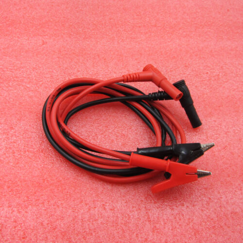 1 Pair Electrical Clamp Alligator Testing Cord Lead Clip to Banana Plug