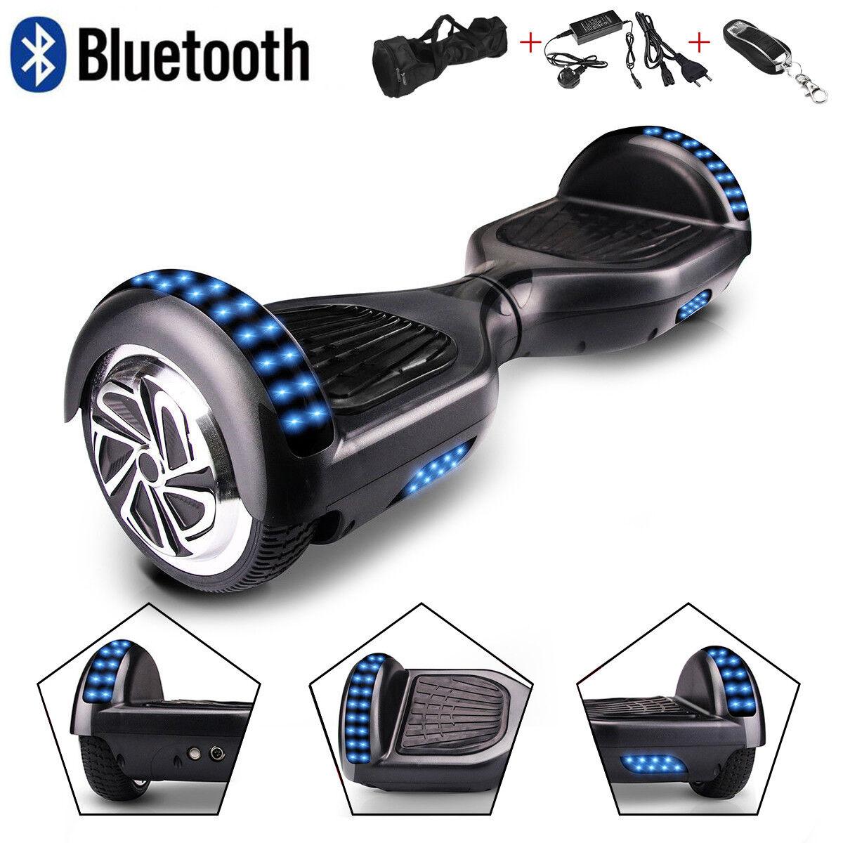 6.5/10.5'' Elektro Scooter Self Balancing Board Board Board Balance Overboard Blautooth+LED 72d4d0