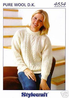 Stylecraft Knitting Pattern 4654 Pure Wool DK