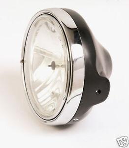 Klarglas-Scheinwerfer-H4-Honda-CB-600-900-Hornet-750-1000-black-headlight