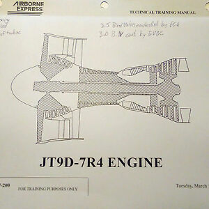 pratt whitney jt9d 7r4 technical training manual ebay rh ebay co uk CFM56 Engine Hartford Aviation