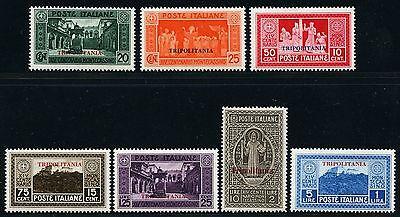 Italienisch-tripolitanien Libyen 1929 Monte Cassino Kloster 86-92 Falz Mint/11 Diversifizierte Neueste Designs