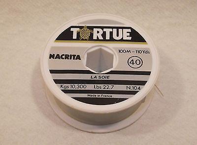 Importato Dall'Estero Fil De Pêche Tortue La Soie (40) Nacrita N°104 - 10,300kgs 100m - 110yds 22,7lbs Ufficiale 2019