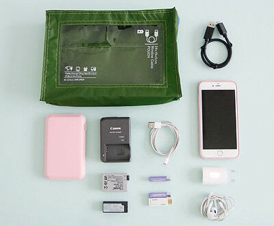 HIMORI Flight 247 Window Cable Pouch - Travel Chargers and Cables Organizer Bag