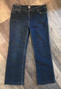 J-Jill-Stretch-Authentic-Fit-Below-Waist-Straight-Leg-Denim-Jeans-Size-10-A8