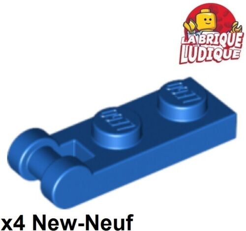 Lego 4x Flat Modified 1x2 with Handle on end Blue//Blue 60478 New