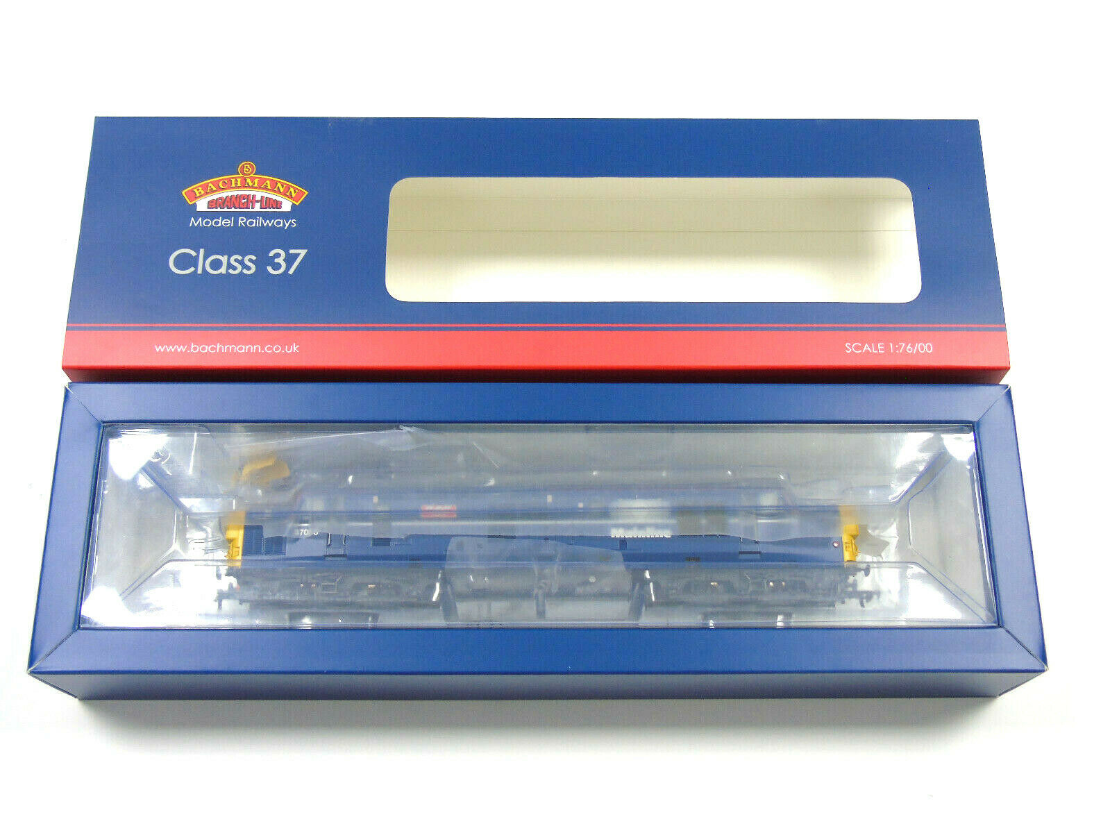 32-775tl Bachmann Oo Ancho Clase 37 Loco Tren Famosa Mainline Azul Nuevo en Caja