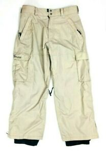 Burton-Tactic-Beige-Khaki-Snowboard-Pants-Nylon-Ski-Winter-Snow-Mens-XL