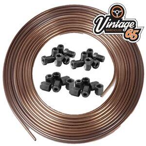 "Copper Nickel Kunifer Brake Pipe 25ft Roll 3//16/"" 24 3//8/"" UNF Male Female Ends"