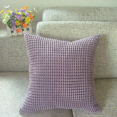 Corn Kernels Corduroy Sofa Decor Pillow Case Cushion Cover Square Fashion