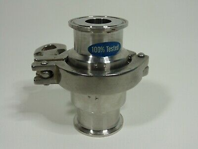 Tri Clamp Clover Stainless Steel One Way Flow 1.5IN R HFS Sanitary Check Valve