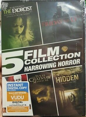 5 Film Collection Harrowing Horror (DVD) Stephen Kings IT, Hidden, Friday the 13