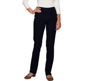 Isaac-Mizrahi-Regular-24-7-Denim-Straight-Leg-Jeans-Pant-Dark-Indigo-Size-4-QVC