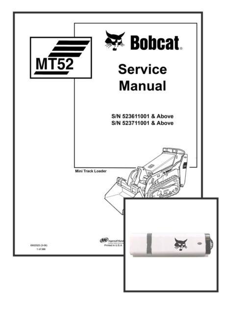 Bobcat Mt52 Mini Track Loader Service Manual Shop Repair Book 1 Part #  6902525