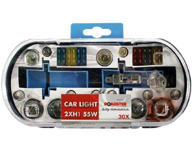 H7 Replacement Light Bulbs and Fuse Set 30 Piece Kit Van Car Motor Bike Freepost