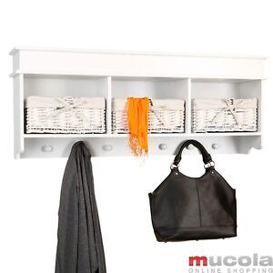 Küchenschrank Wandschrank Mit 3 Körben Hängeschrank Wandregal Weiß Landhaus