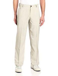 89ee8b45d7f4 adidas Men s ClimaLite 3-Stripe Flat Front Tech Golf Pants Khaki ...