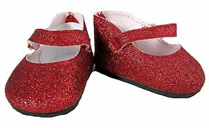 9c9951bb253ce Red Glitter Mary Jane Shoes Fits 18 inch American Girl Dolls | eBay