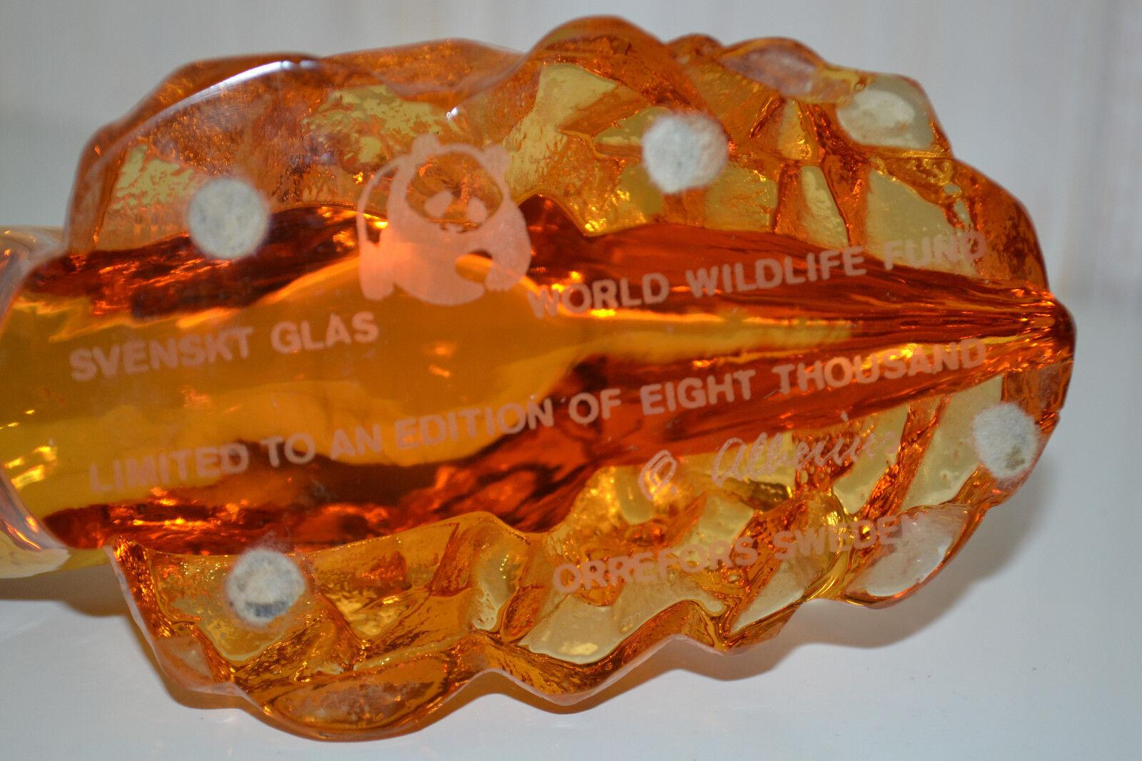 Orrefors Orrefors Orrefors Glas Figur-Seebär Seehund-Sweden Schweden-Lim. Sig. O.Alberius-Top 434b3a