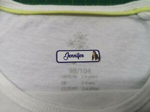 100x-Textil-Buegel-Etiketten-Waschbar-Namensetiketten-Farbe-Schrift-viele-Motive