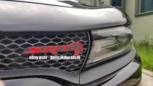 Dodge Charger Hellcat Srt Grill Emblem Overlay Decal 2018 2019 Ebay