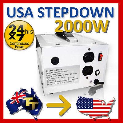 2000 WATT AMERICAN STEP DOWN TRANSFORMER 240V 110-120V SD110-2000A