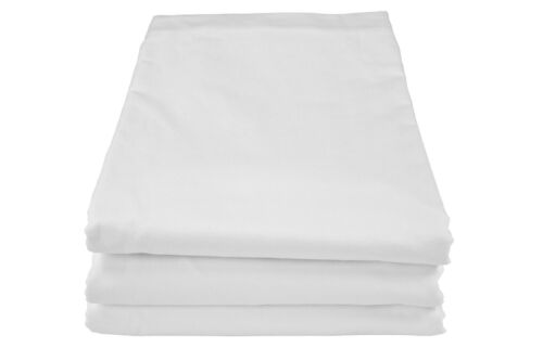 3 new king premium t180 king white fitted 78x80x12 deep fit percale sheet white