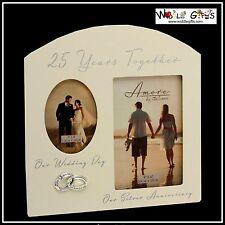 Venticinquesimo anniversario 25 ANNI INSIEME argento Photo Frame