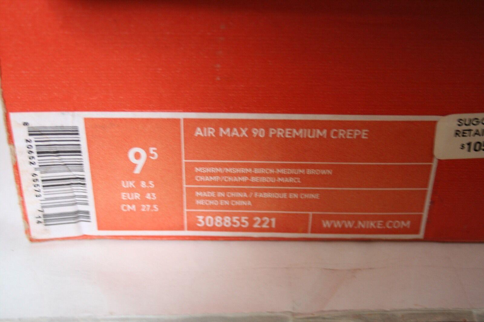 nike aus air max 90 premium aus nike hanf größe 9,5 verwendet, oberste 94fd29