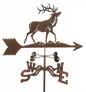 Elk-or-Wapiti-Weathervane-Weather-Vane-Complete-with-Choice-of-Mount