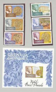 100% De Qualité Grenade Grenadines #256-262 Prix Nobel 6 V & 1 V S/s Imperf Proofs-afficher Le Titre D'origine Un RemèDe Souverain Indispensable Pour La Maison