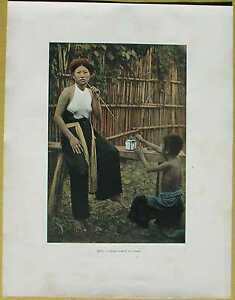 ca-1895-French-photochrom-VIETNAM-TONKIN-WOMAN-SMOKING-OPIUM-46