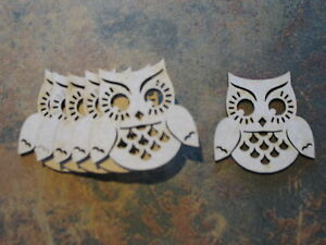 image is loading 10x mdf wooden owl shapes craft embellishments 50mm