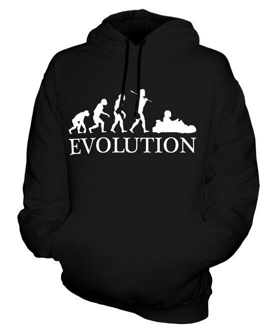 GO KART RACING EVOLUTION OF MAN UNISEX HOODIE  Herren Damenschuhe LADIES GIFT CLOTHING
