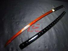 Hand made 9260 spring steel shirasaya katana sharpened bamboo body sharp sword