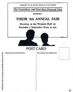 1989-CANTERBURY-POSTCARD-FAIR-ADVERTISING-LIMITED-EDITION-MINT-POSTCARD