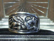 STERLING SILVER  RING ~GRIFFIN~ GRIFFON GRYPHON~3-D RELIEF~ SIZE 9! MAN'S RING!