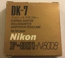 Nikon DK-7 Eyepiece Adapter w box use DG-2 & DR-3 finder on F3HP F3T F4 F5 F100