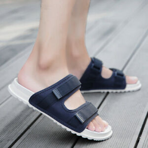 Mens Summer Beach Slippers Open Toe Walking Sports Flats Slip On Casual Shoes