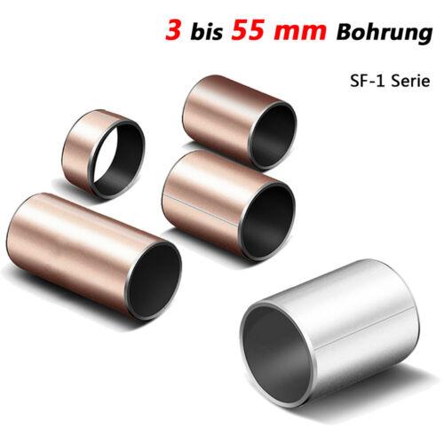 Details about  /Selbstschmier Lager Öllose Buchsen Lagerbuchse Gleitlager Bohrung 3mm bis 55mm