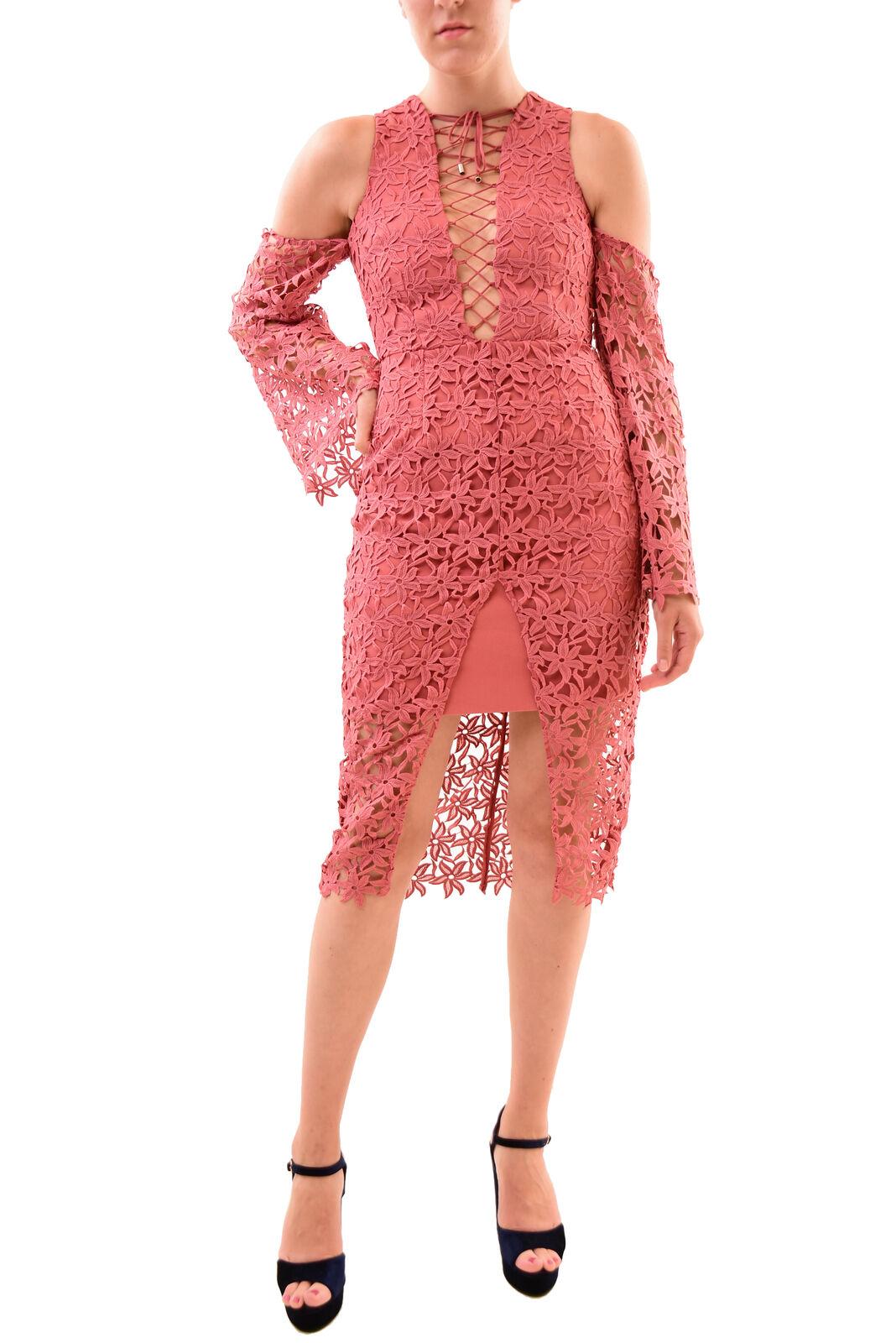 Keepsake Woherren NBW Stay Close Lace Midi Dress Paprika Größe S RRP  BCF76