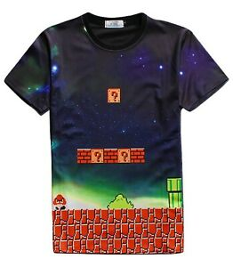 Mario-Retro-Gamer-T-Shirt-All-Over-3d-imprime-dessin-anime-SUPER-MARIO-T-Shirt