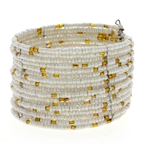 Ethnic Beads Multilayer Bracelet Bangle Cuff Fashion Womens Friendship Jewelry